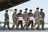 Photo of the dignified transfer of Sgt. 1st Class Elliott J. Robbins.
