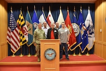 Antonio Lombardi, center, is surrounded by his three Veteran sons and his grandson who just enlisted into the U.S. Army.