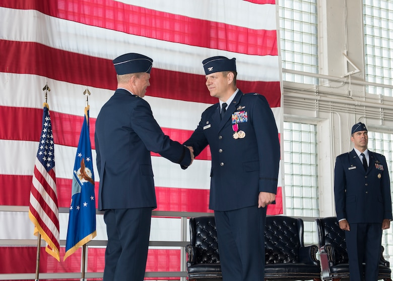 The 366 Fighter Wing conducted the wing change of command July 2, 2019, at Mountain Home Air Force Base, Idaho. Kunkel served on MHAFB as the 366th FW commander for two years. (U.S. Air Force photo by Senior Airman Tyrell Hall)