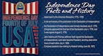 Graphic about Independence Day facts and history.