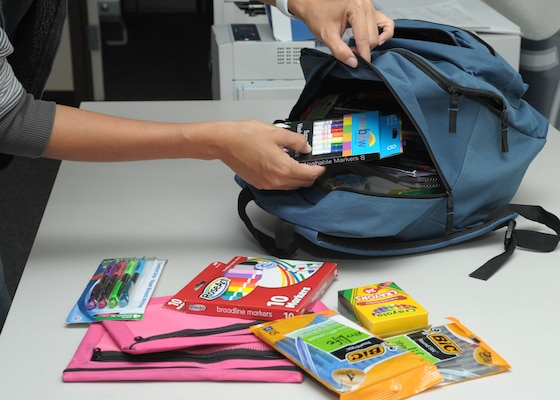 The Joint Base San Antonio Child & Youth Education Services School Liaison Office will help military families in financial need the week of July 22-26 when it accepts backpacks filled with school supplies for children in those families.