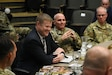 The Honorable Ryan McCarthy, who currently is performing the duties of the secretary of the Army, listens to feedback about the challenges of recruiting from the staff at the U.S. Army Recruiting Command during a visit to Fort Knox, Kentucky.