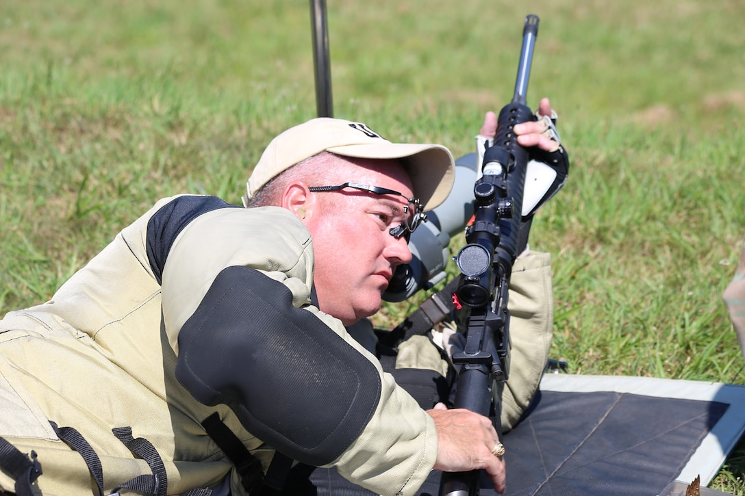 Sgt. Keith Stephens of the Army Reserve Marksmanship Program broke a record on a 600-yard match that was set back in 1993 shooting a rifle he built himself.