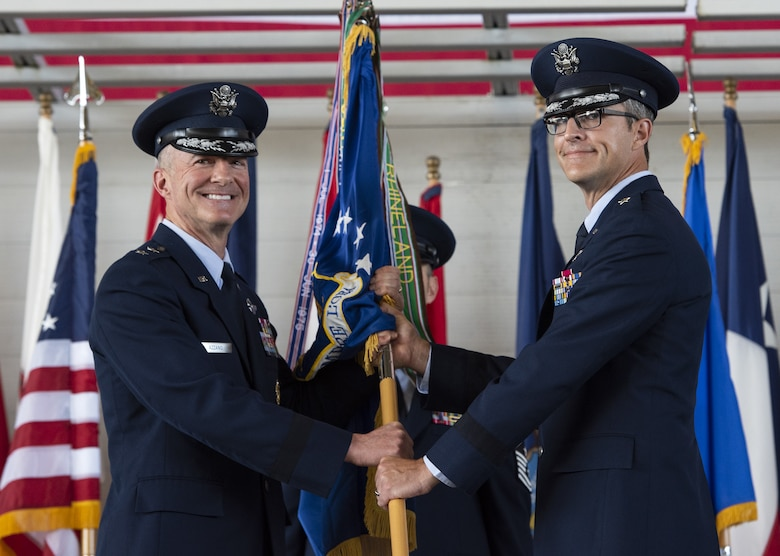 The 96th Test Wing welcomes new commander, Brig. Gen. Scott Cain during a change of command ceremony July 2.