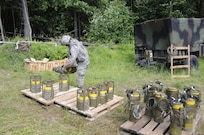 Members of the 2nd Brigade Special Troops Battalion conducted demolition training.
