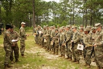 Master Sgt. Russell Moore instructing