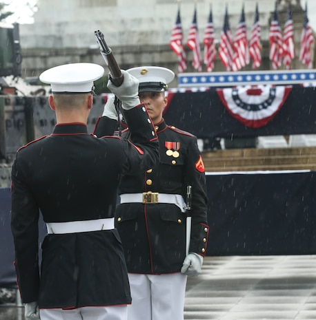 """The Honorable President Donald J. Trump hosted a """"Salute to America"""" event which was held to honor all service members past and present. The celebration showcased America's military with music, military demonstrations and flyovers."""