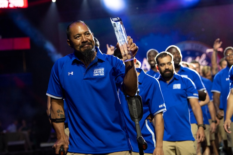 Heart of the Team Award during the 2019 DoD Warrior Games