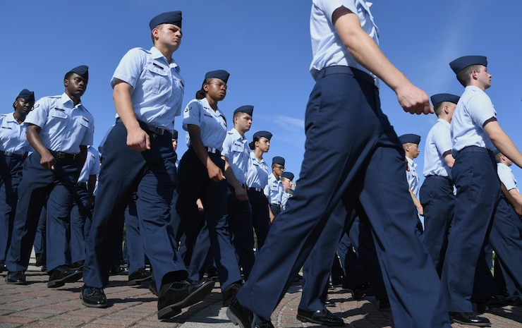 Airmen from the 81st Training Group marching