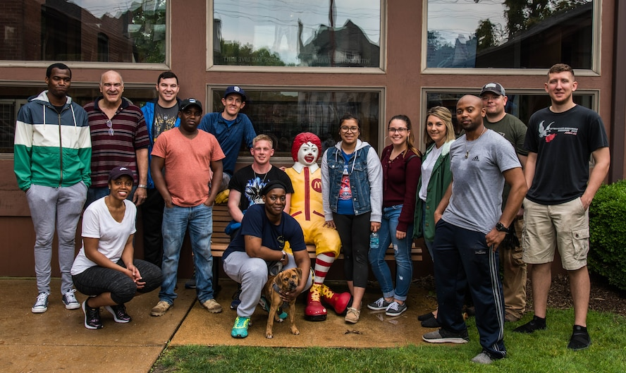 Airmen from Scott Air Force Base volunteered at a St. Louis area Ronald McDonald House in St. Louis