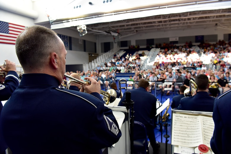 Airman of Note play during a TDY to Ohio