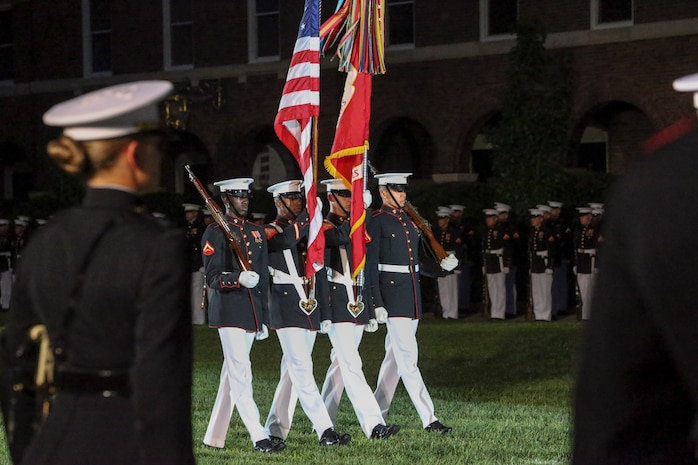 General Robert B. Neller, commandant of the Marine Corps, was the hosting official and the guest of honor was The Honorable Mr. Michael R. Pompeo, U.S. Secretary of State.