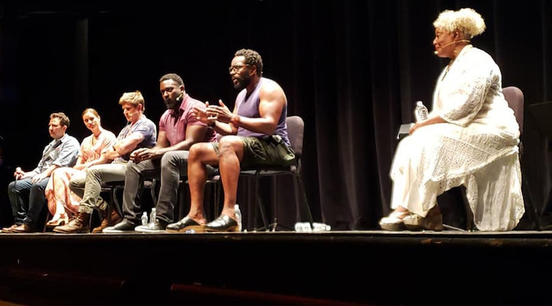 "After the performance of ""True West,"" at the Charline McCombs Empire Theatre, June 29, 2019, actors took questions from the audience, making it a most memorable night to remember for most."