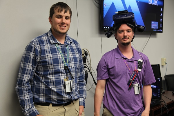 Aerospace Engineer Christopher Snider and Computer Engineer Daniel Stith have built the virtual reality training simulations from the ground up at Norfolk Naval Shipyard.