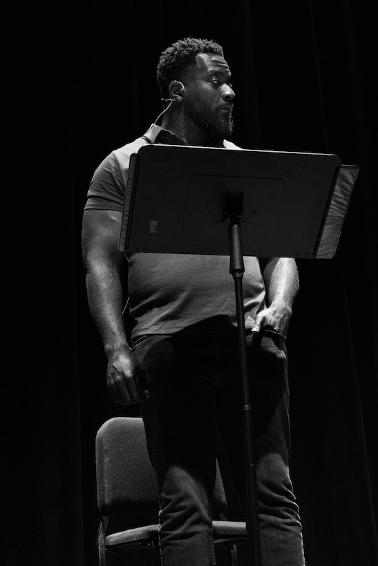 Actor, Michael James Shaw, on stage at the Charline McCombs Empire Theatre, June 29, 2019, in downtown San Antonio.