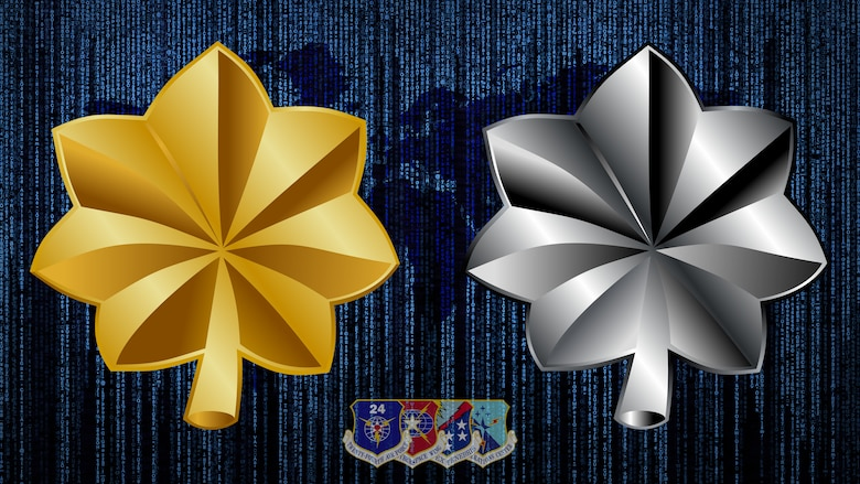 Air Force officials selected 29 Air Forces Cyber captains and 11 majors for promotion to major and lieutenant colonel, respectively, today. (U.S. Air Force graphic by Tech. Sgt. R.J. Biermann)