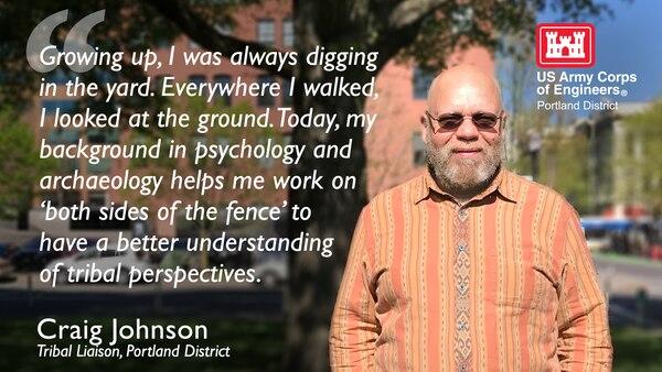 Portland District's Tribal Liaison, Craig Johnson