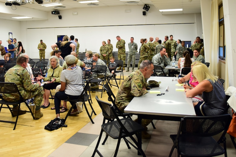 The 31st Medical Group held a Community Health Care Services Forum at Aviano Air Base, Italy, July 8, 2019. The forum was held to hear concerns and inform patients of improvements at the 31st MDG. (U.S. Air Force photo by Airman 1st Class Caleb House)