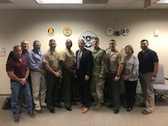 The Commanding Officer of Marine Corps Logistics Base Albany, Col. Alphonso Trimble, and several members of his staff visited the Federal Emergency Management Agency Region IV Regional Response Coordination Center in Atlanta, Ga., and the Georgia National Guard Joint Force Headquarters in Marietta, Ga., June 27. (U.S. Marine Corps photo by Steven Dancer)
