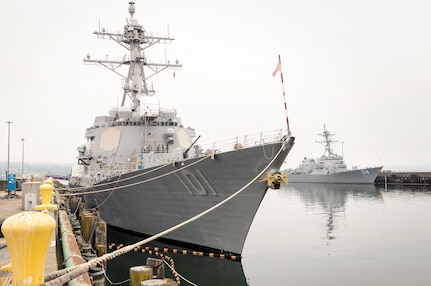The Arleigh Burke class destroyer USS Gridley (DDG 101) completed an on time, pier side pre-deployment availability, June 14 at Naval Station Everett in Everett, Wash.