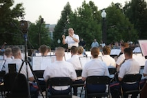 On July 10, 2019, the U.S. Marine Band performed a concert at the U.S. Capitol. The program celebrated the band's 221st anniversary and featured pieces linked to former Marine Band Directors. (U.S. Marine Corps photo by Master Sgt. Amanda Simmons/released)