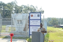 During a ribbon-cutting ceremony aboard Marine Corps Logistics Base Albany, July 9, base officials moved one step closer to achieving their NetZero energy resiliency goals.  Phase Two of the Borehole Thermal Energy Storage Systems and Ground Source Heat Pumps that will serve buildings in the downtown area of the base were officially commissioned for use.