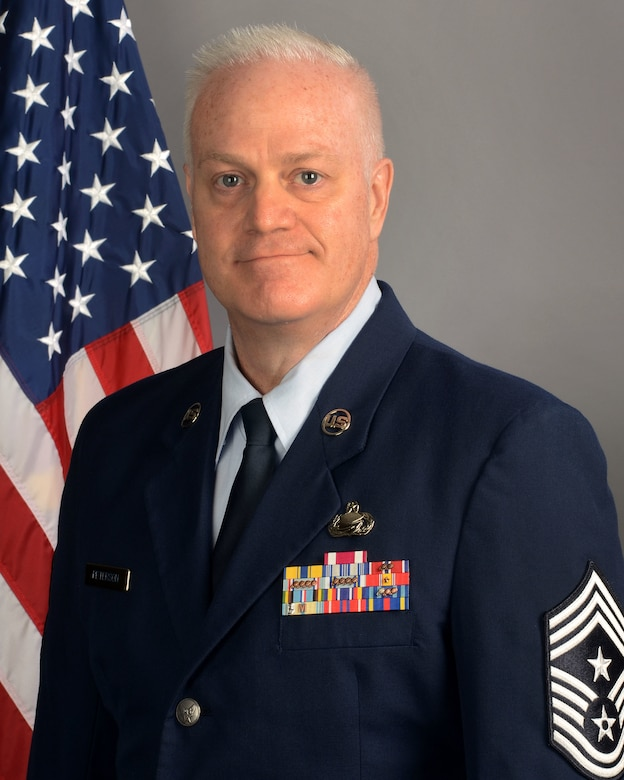 Chief Master Sgt. Dayne Peterson, 169th Fighter Wing command chi