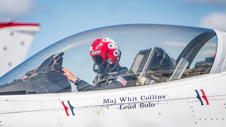 In this 2018 photo, Maj. Whit Collins is inside the cockpit of an F-16, the first Air Force aircraft designed with fly-by-wire flight controls. This system uses computer-generated signals that transmit the pilot's commands to the flight control surfaces. The Flight Dynamics Laboratory, now part of the AFRL Aerospace Systems Directorate, developed this technology, which integrates the pilot with the airframe, thereby creating a highly responsive and effective unit. (Courtesy photo)