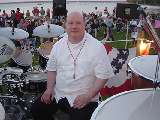 NUWC Division Newport engineer achieves work-life balance by beating on the drums