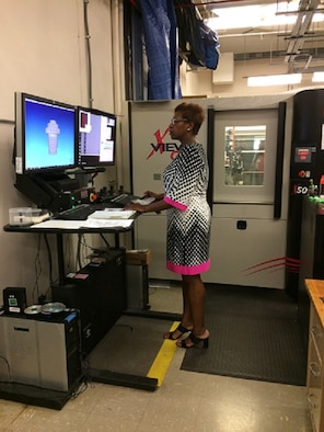 The Air Force Research Laboratory's Segrid Harris will receive the Managerial Leadership in Government award at the 24th Annual Women of Color STEM Conference, October 5, 2019, in Detroit, Michigan. Her team uses a computed tomography system for research investigation work. (U.S. Air Force photo/Donna Lindner)