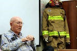 Hawaii Army National Guard soldiers with 297th Engineer Detachment Fire Fighting Team attend a professional development seminar with James G. Davis, Member, Historian and last living member of the 1204th Army Engineer Fire Fighting Platoon, May 4, 2019 at the 103D Troop Command Headquarters, Pearl City, Hawaii. James G. Davis served in North Africa, Italy, France, and Germany during World War II.