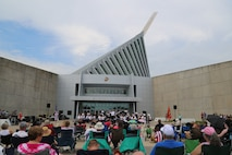 On Thursday, July 4, 2019, the Marine Band performed an Independence Day concert at the National Museum of the Marine Corps. (U.S. Marine Corps photos by Gunnery Sgt. Rachel Ghadiali/released)