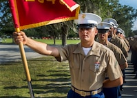 Private First Class Christian J. Raffield completed Marine Corps recruit training as the company honor graduate of Company E, 2nd Recruit Training Battalion, Recruit Training Regiment, aboard Marine Corps Recruit Depot Parris Island, South Carolina, July 12, 2019. Raffield was recruited by Sergeant Cameron T. Barry from Recruiting Substation Augusta. (U.S. Marine Corps photo by Cpl. Jack A. E. Rigsby)