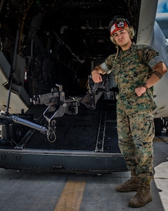 "U.S. Marine Cpl. Raul Acosta, an aviation ordnance technician with Marine Medium Tiltrotor Squadron 263, Marine Aircraft Group 26, 2nd Marine Aircraft Wing, poses for a photo at Marine Corps Air Station New River, N.C., July 11, 2019. Acosta is from Gainesville, Fla. ""What motivates me is the expectations set, and the drive to not let my leaders down,"" Acosta said. While standing duty for the squadron on June 29, 2019, Acosta demonstrated heroic actions by helping an elderly gentleman who was in need of medical attention. His quick decision-making skills and calm demeanor helped facilitate emergency assistance that reflected greatly upon him and his unit. Without Acosta's quick thinking, accurate communication with emergency dispatch and maximum physical effort, the elderly gentleman may not have survived."