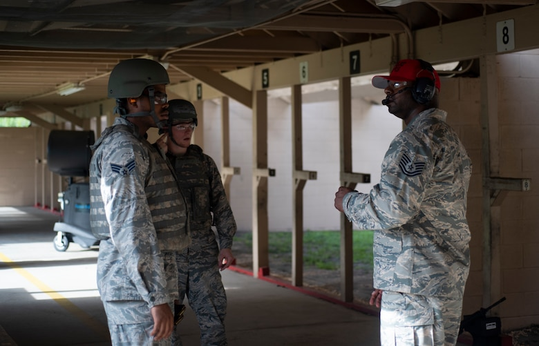 Combat arms instructors train Airmen on weapon systems needed during their time in the Air Force. (U.S. Air Force photo by Staff Sgt. Rito Smith)