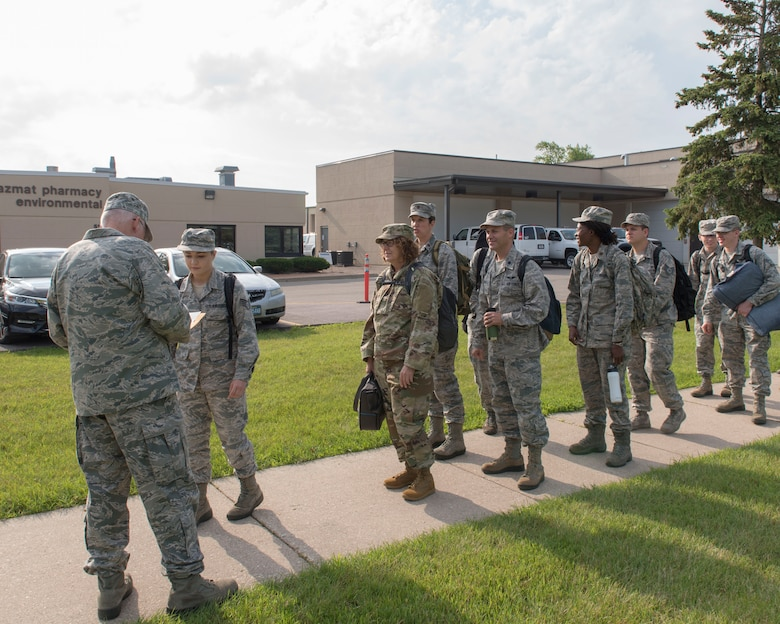 Airmen assigned to the 115th Fighter Wing, Madison, Wisconsin, prepare to travel to New York July 9, 2019, for the Greater Chenango Cares and Healthy Cortland Innovative Readiness Training. The IRT mission is comprised of Active Duty Air Force, Army, Navy, Reserves and National Guard troops working alongside our local community partners to bring health care and veterinary services to the underserved communities of Cortland and Chenango counties. (U.S. Air National Guard photo by Airman 1st Class Cameron Lewis)