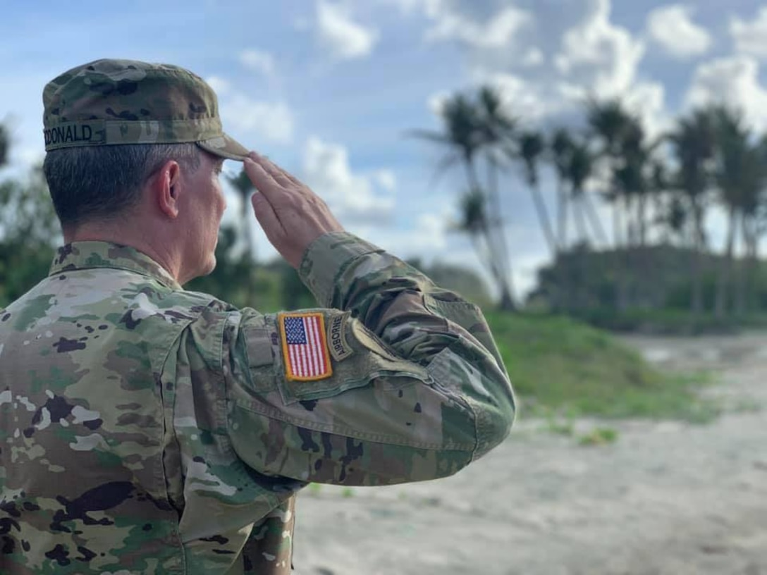 """Command Sgt. Maj. honors father in Guam as 75th Anniversary """"Liberation of Guam, 1944""""  approaches"""