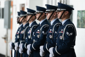 Airmen from the Kadena Honor Guard