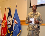Army Brig. Gen. Lawrence talks to DLA Troop Support workforce at first town hall July 10