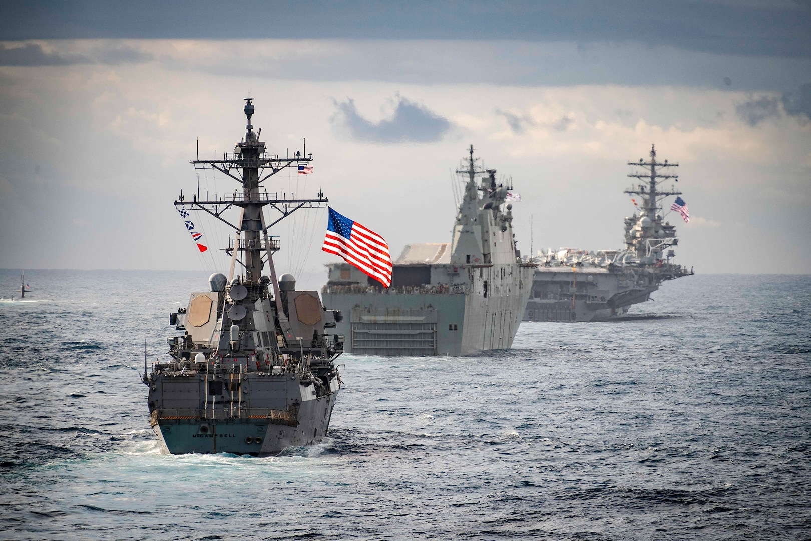 Coast Guard Cutter, Navy Destroyer Join Expeditionary Strike Group 7