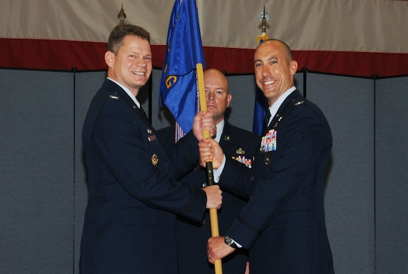 Colonel Damian Schlussel took command of the 90th Security Forces Group during a change of command ceremony July 12, 2019, on F.E. Warren Air Force Base, Wyo.