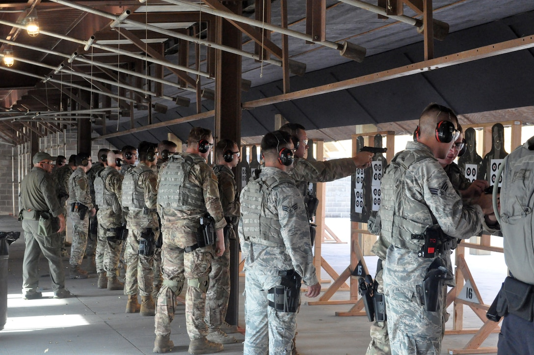 About 20 members of the 72nd Security Forces Squadron attended an advanced training course at the CATM range last week, aimed at diversifying their skillset and increasing the lethality of members. (U.S. Air Force photos/Megan Prather)