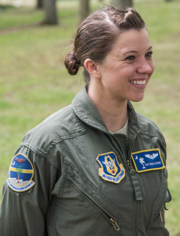 United States Air Force Staff Sgt. Nichole Bryant, an aeromedical evacuation technician with the 315th Aeromedical Evacuation Squadron at Joint Base Charleston, South Carolina, particpates in a combined training event with the Royal Air Force Reserve July 12, 2019 at RAF Brize Norton, England.