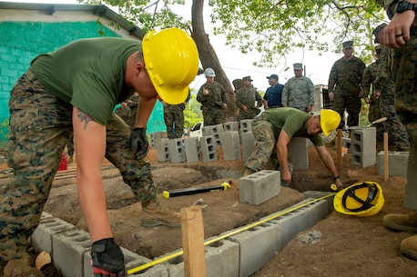 The SPMAGTF-SC staff began renovating a school in Honduras named La Escuela de Vilma Yolanda Castillo, as a part of their mission to conduct engineering projects alongside partner nation militaries in Latin America and the Caribbean.