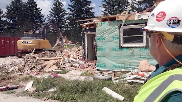 Military Housing Demolition underway at Defense Distribution Center Susquehanna