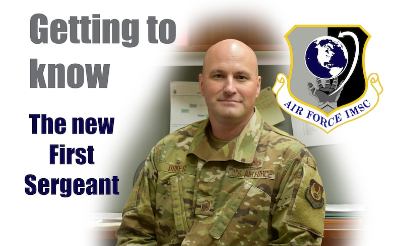 Getting to know the new first sergeant graphic featuring Senior Master Sgt. John Dukes.