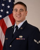 Official photo of A1C David Duneman, guitarist with the USAF Band of Mid-America at Scott Air Force Base, Illinois.