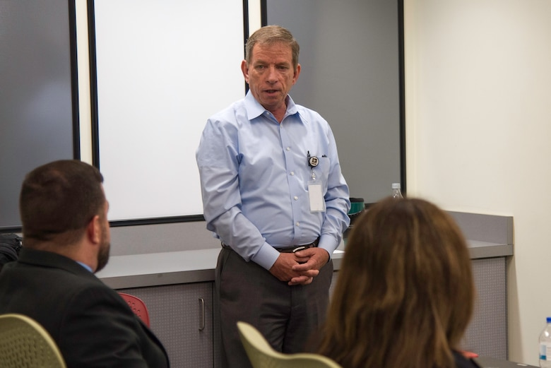 Chip Marin, Huntsville Center programs director, shares his thoughts on leadership at the Huntsville Center's 2018-2019 Leadership Development Program Level II class graduation.