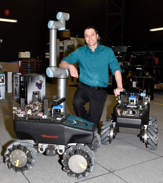 Dr. James Hing, Advanced Technology Projects Branch head at NAWCAD Lakehurst, was named a recipient of the Presidential Early Career Award for Scientists and Engineers for his early career work as a robotics engineer. (U.S. Navy photo)