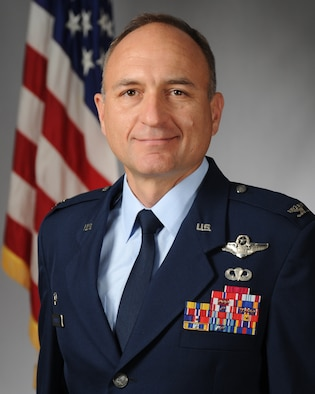 Col. Robert Masaitis, 27th Special Operations Wing commander, poses for a photo at Cannon Air Force Base, N.M., July 8, 2019. Masaitis took command from Col. Stewart A. Hammons.